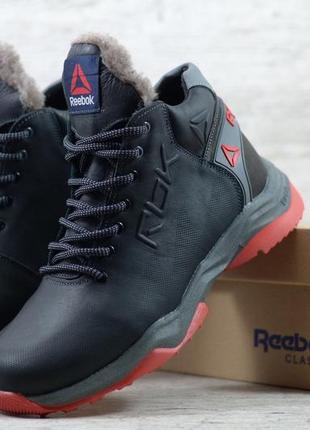 Мужские кожаные зимние ботинки/кроссовки в стиле  reebok обувь...