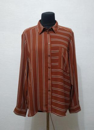 Стильная модная блуза в полоску большого размера