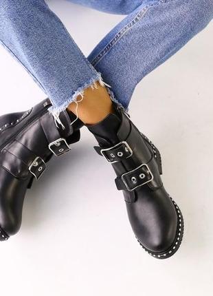 Lux обувь! стильные удобные натуральные кожаные зимние ботинки...
