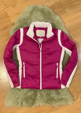 Яркая пуховая лыжная спортивная куртка sun valley!