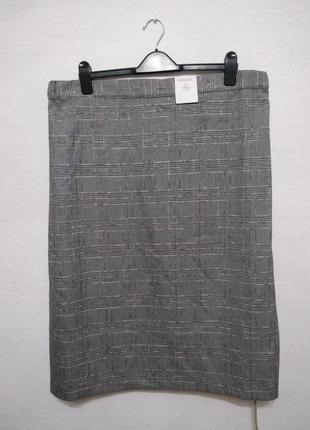 Стильная модная юбка в клетку большого размера