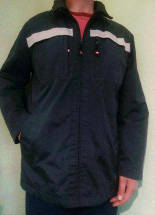 Мужская демисезонная куртка ветровка большого размера/чоловіча...
