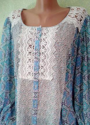 Нежная летняя блузка блуза большого размера 54-56,(20-22 uk)/л...