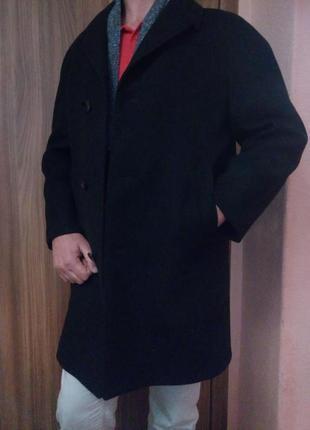 Стильное шерстяное пальто тренч 52-54 демисезонное пальто