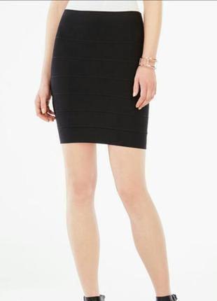 Классическая черная юбка-карандаш 48-50,14-16 uk трикотажная юбка