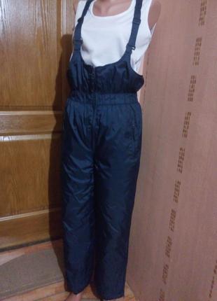 Зимние лыжные штаны полукомбинезон xs,40-42
