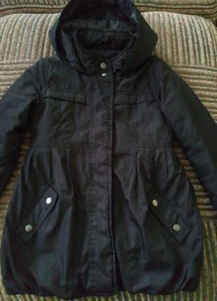 Демисезонное пальто куртка для девочки 7-8 лет,128 см