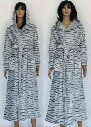 Длинный халат шиншилла