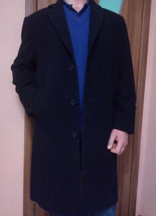 Стильное демисезонное шерстяное пальто 54-56 шерсть+кашемир
