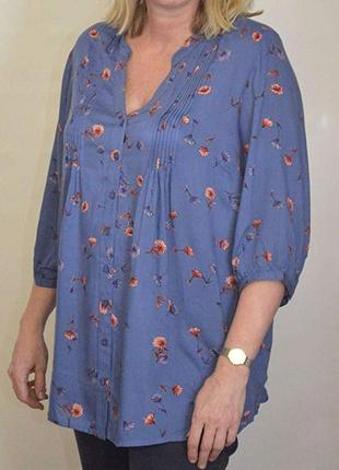 Вискозная летняя блуза большого размера