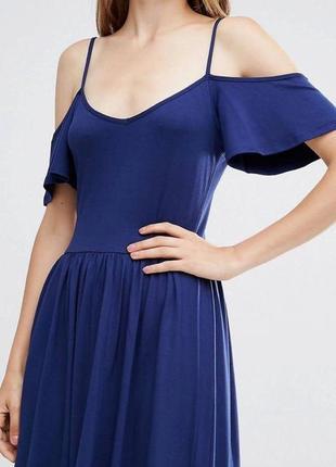 Трикотажное летнее платье с открытыми плечами asos