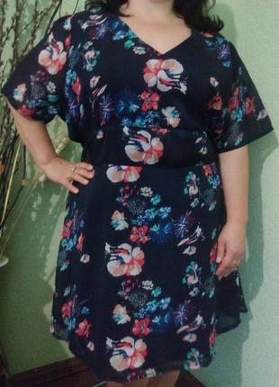 Очаровательное платье большого размера 58-60