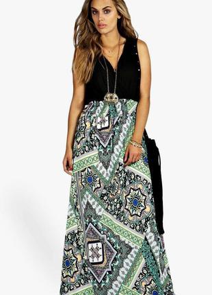 Летнее длинное платье в пол макси большого размера 56-58