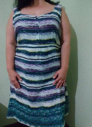 Хлопковое платье сарафан большого размера 56-58
