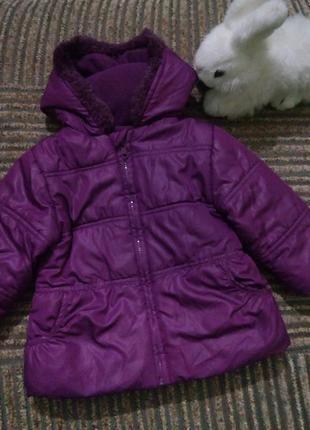 Демисезонная куртка для девочки 12-18 месяцев
