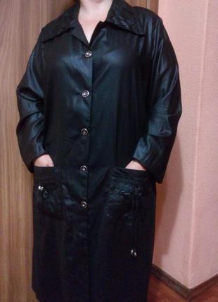 Черное платье рубашка халат большого размера