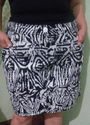 Стильная котоновая юбка большого размера/ юбка карандаш