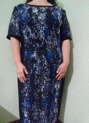 Шикарное платье большого размера 54-56