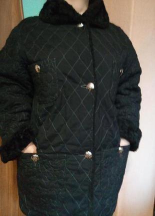 Теплое стеганое пальто,удлиненная куртка большого размера