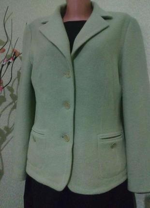 Стильный шерстяной пиджак жакет gerry weber 100% шерсть