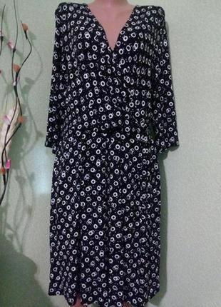 Вискозное трикотажное платье большого размера