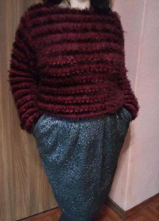 Стильная серебристая юбка большого размера
