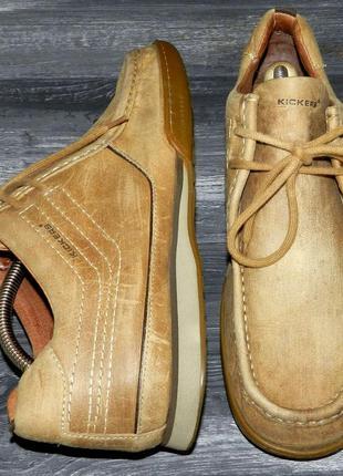 Kickers ! оригинальные, стильные,кожаные невероятно крутые бот...