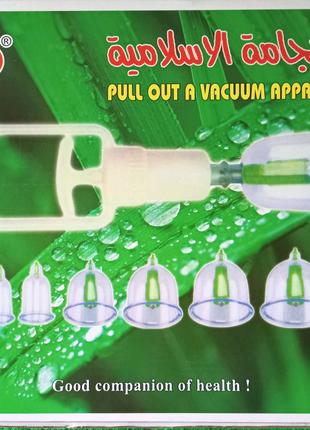Набор банок для массажа вакуумных анти целлюлитных с насосом 24шт