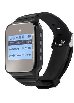 Универсальный пейджер-часы для официанта P-02 Black Watch Pager