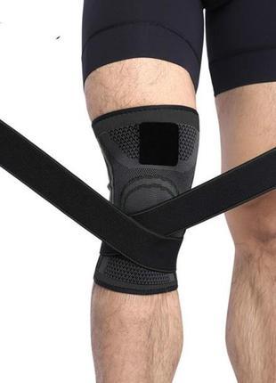 Бандаж на коленный сустав / фиксатор колена / наколенник с ремням