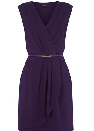 Фиолетовое очень фиолетовое стильное платье oasis р. 34/8/ xs-...