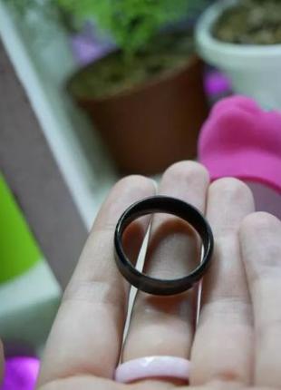 Черное матовое титановое кольцо в гранж стиле, унисекс 20 размер