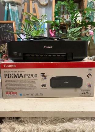 Принтер Canon Pixma iP2700 с рабочим цветным картриджем