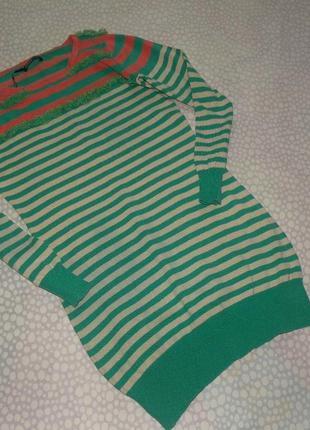 Платье в полоску 10-12 лет