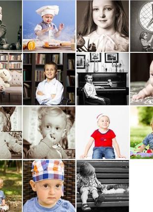 Детские фотосессии в студии и на природе