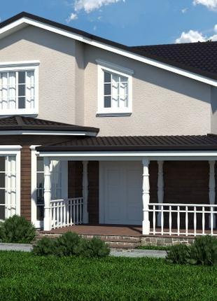 3Д визуализация фасадов домов от 250 гривен