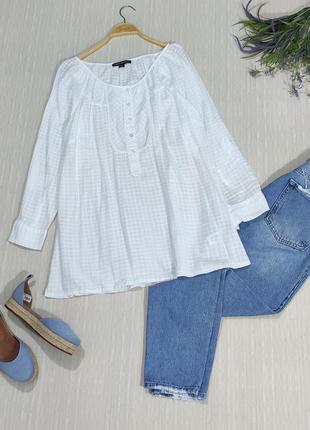 Натуральная, лёгкая,удлиненная рубашка свободного кроя