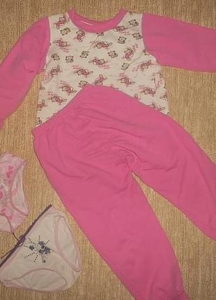 Пижама для девочки рр. 110