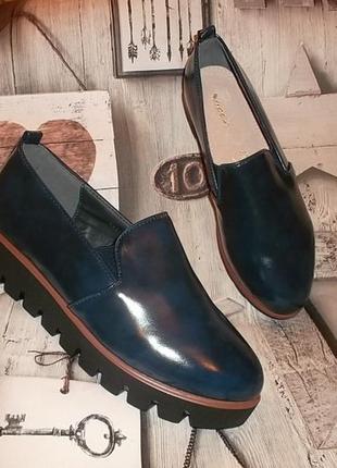 Стильные туфли на тракторной подошве кожаная стелька рр. 38, 39