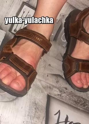 Кожаные мужские сандалии