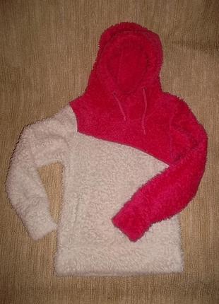 Теплый свитер с капюшоном на рост 110 см. для худенькой