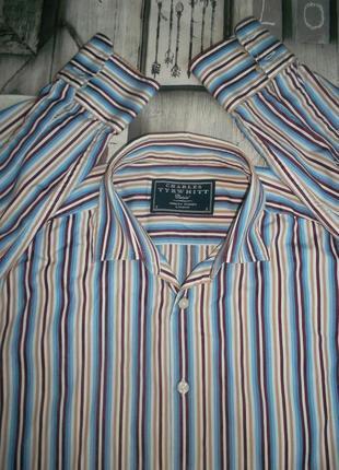 Рубашка в полоску с длинным рукавом