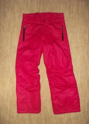 Зимние теплые яркие штаны мембранные