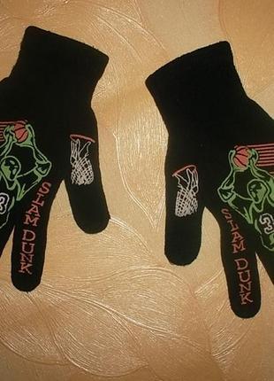 Перчатки для мальчика 6-10 лет