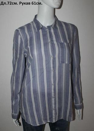 Рубашка в вертикальную полоску h&m