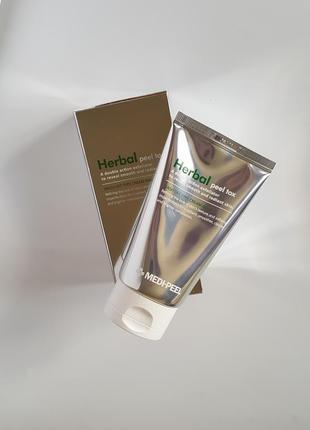 Очищающая пилинг маска с эффектом детокса medi-peel herbal pee...