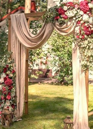 Украшение оформление зала на свадьбу в восхитительно нежном цвете