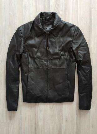 Кожаная куртка шкіряна куртка жакет пиджак кожаный пиджак s