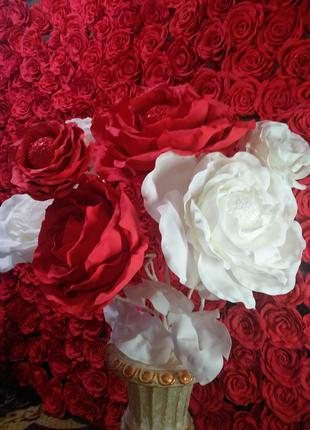 Цветы из фоамирана Букет из роз