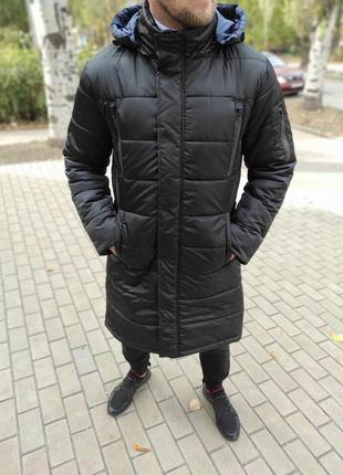 Мужская зимняя длинная куртка .